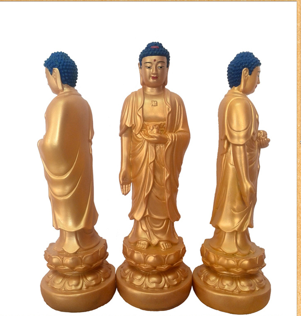 Sambo resina Buda Amitabha estatua de buda budismo budista figura figura de  28 CM de altura 7047f216589