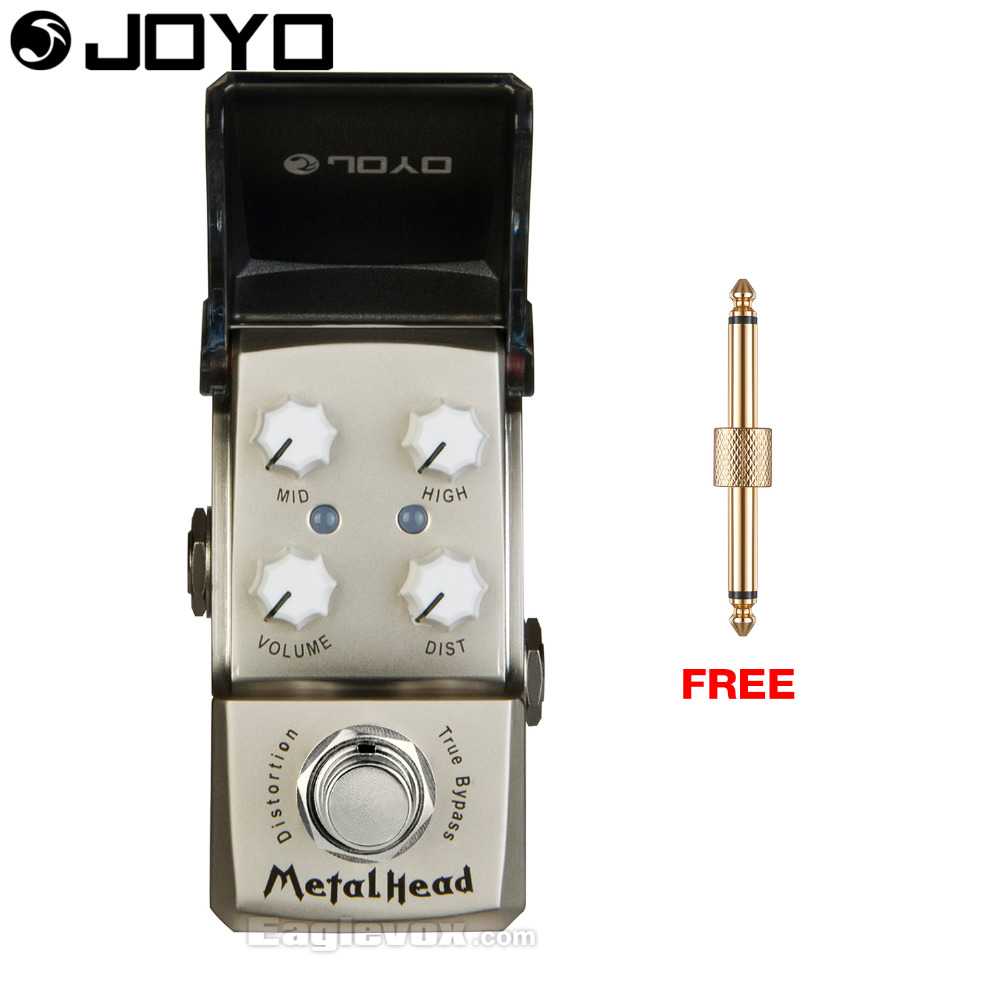 Joyo Ironman Metal Head Distortion Guitar Effect Pedal True Bypass JF-315 with Free Connector mooer hustle drive distortion guitar effect pedal micro pedal true bypass effects with free connector and footswitch topper