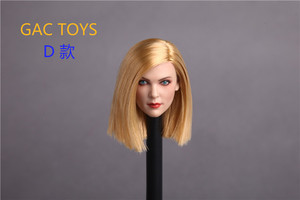 Image 4 - 4 Style 1/6 Europe Woman Head Sculpt Brown Yellow Long Short Hair American Female Headplay for 12 Inches Action Figure Doll