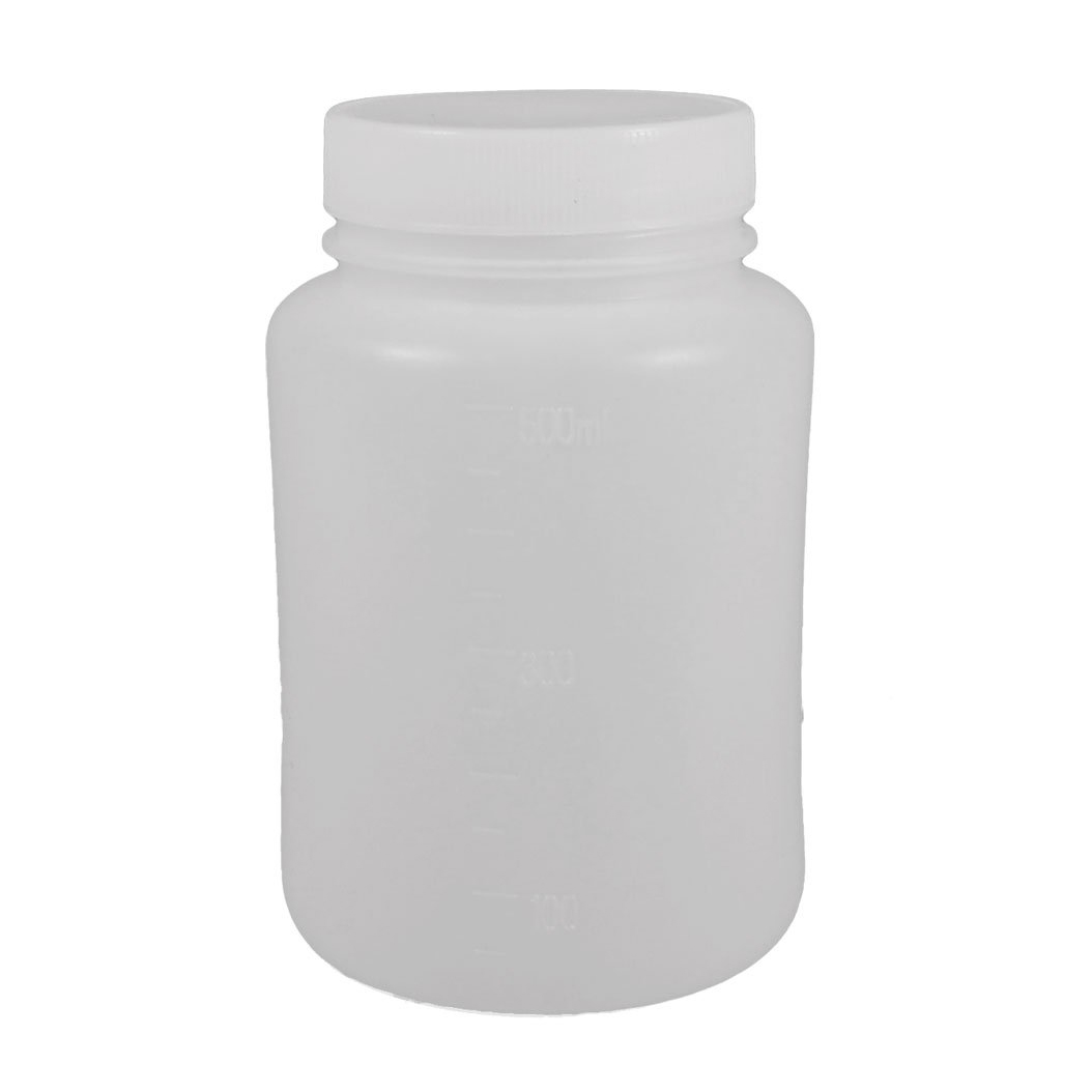 Laboratory Chemical Storage Case White Plastic Widemouth Bottle 500mL