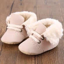 2017 Winter Khachi Baby Moccasin Soft Bottom Infant Moccasin-gommino Newborn Babies Shoes PU Leather Prewalkers Boots