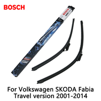 2pcs Lot Bosch Car AEROTWIN Wipers Windshield Wiper Blades Dedicated Wipers For Volkswagen SKODA Fabia Travel