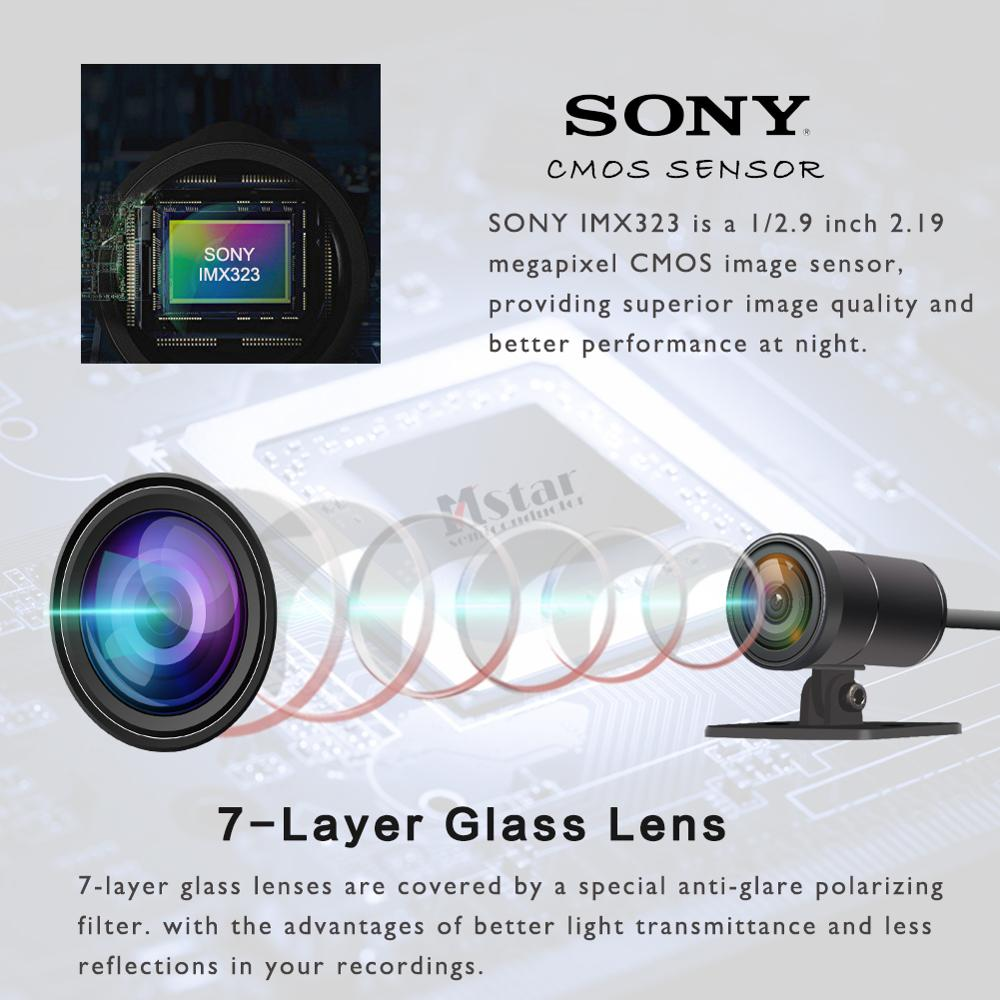 SYS VSYS M2F Pro WiFi Motorfiets Dash Cam 2CH 1080P SONY IMX323 170 Graden Groothoek Fish Eye Lens motorfiets Camera Recorder - 2