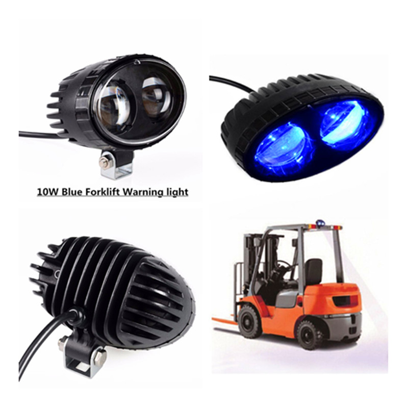 12pcs Forklift Safety Blue Light led work light 10w 12~48V DC LED forklift warning lights for forklift truck free shipping et 165 mcu 24 48v electronic throttle for forklift stacker pallet truck