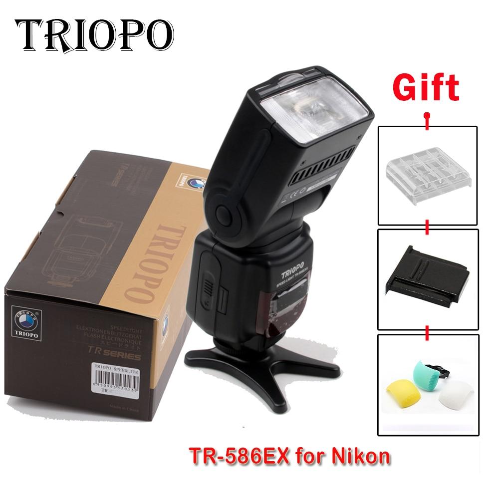 2016 Triopo TR-586EX Flash TTL Speedlite Wireless Speedlight Suit For nikon D750 D700 D7100 Camera as YONGNUO YN-568EX meike mk d750 battery grip pack for nikon d750 dslr camera replacement mb d16 as en el15 battery