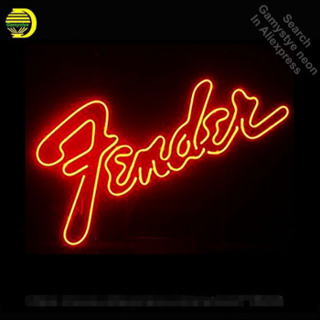 Fenden Neon Sign Music neon bulb Sign Glass Tube neon lights Recreation Garage Professiona Iconic Sign Advertise Art Motel Sign