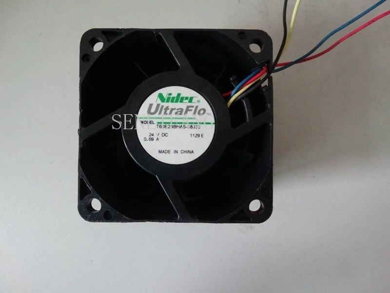 Free Shipping T60E24BHA5-58J33 24V 0.69A 6038 60*60*38MM Four Line Fan