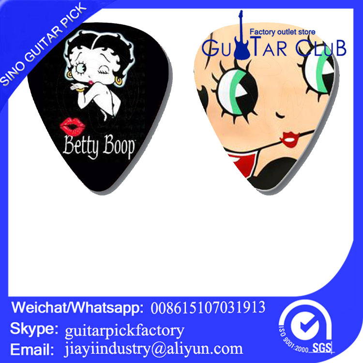 Free shipping Custom cartoon beautiful girl big eyes red lip guitar picks hot sale 120 pcs guitar plectrum