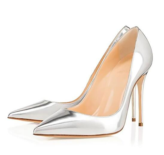 Women Sexy High Heels Candy color Patent Leather Ladies Fashion Party Stiletto <font><b>12</b></font> <font><b>CM</b></font> Office Shoes Shallow <font><b>Pumps</b></font> High Quality image