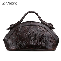 Hot Sale Arrival Oil wax Genuine Leather Women Handbags Fashion embossed Shoulder Crossbody Bags Female Handbag Trend Bag Bolsas