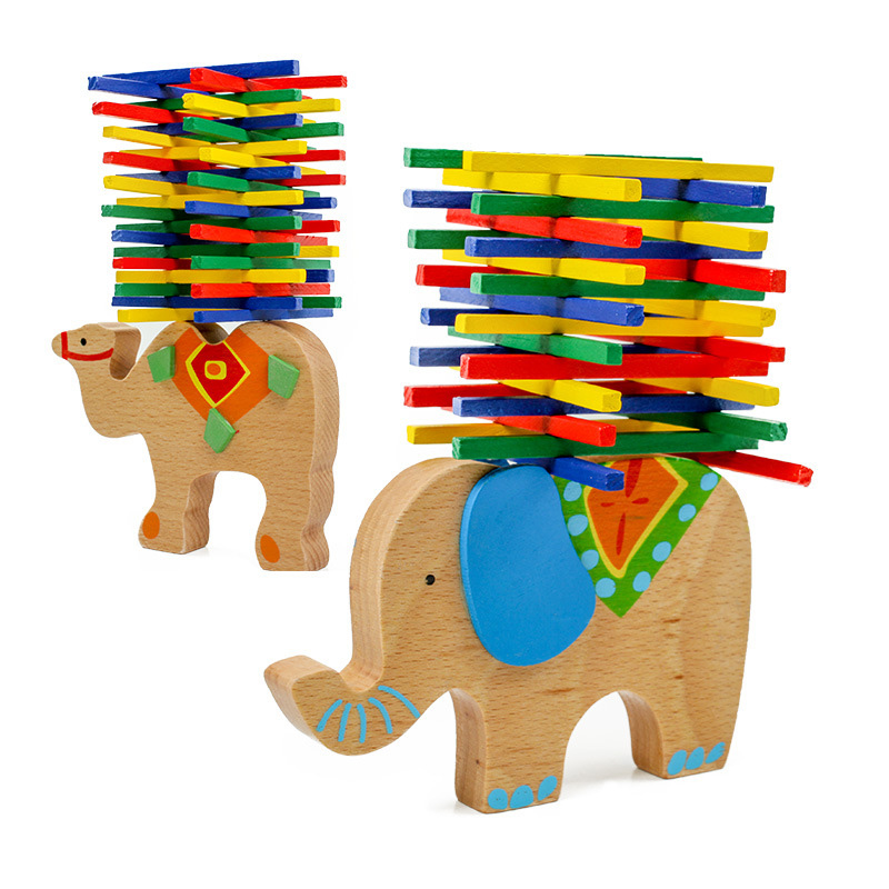 Elephant/Camel Colorful Jenga Board Game Family/Party Best Gift For Children
