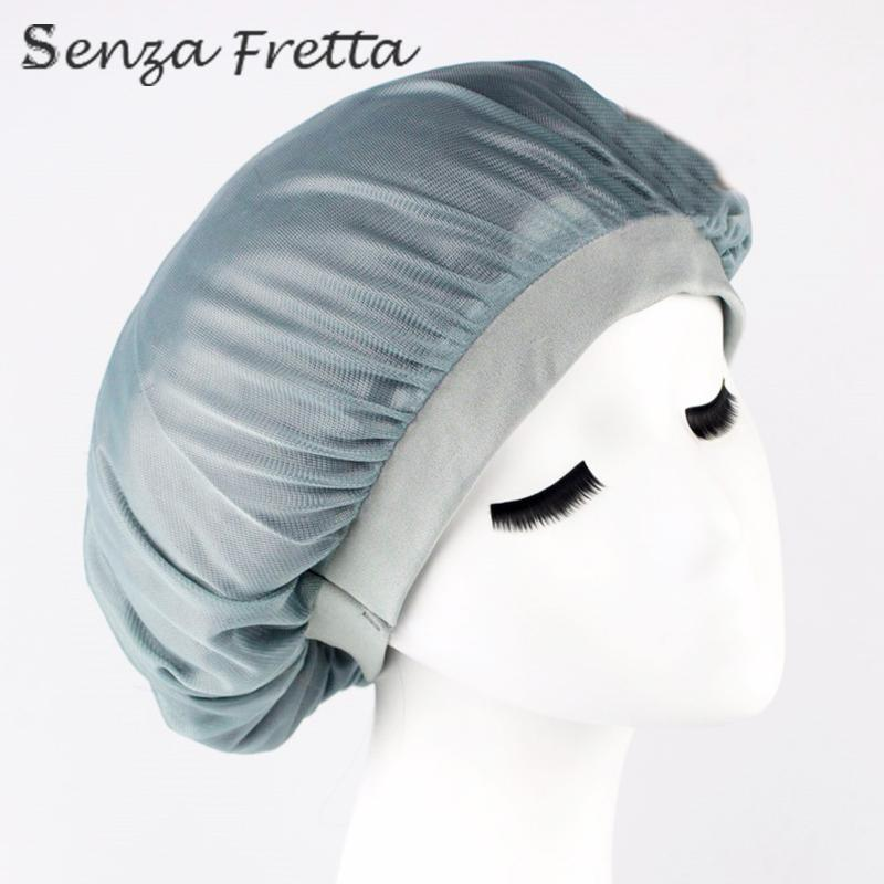 Women Night Sleep Hat Long Hair Care Chemo Cap Satin Bonnet Cap Head Wrap