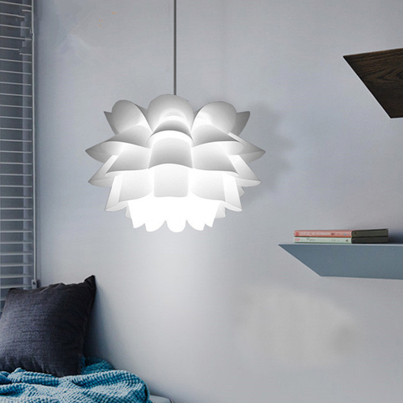 Nordic White Pendant lights PP lotus pendant lamps for living room restaurant bedroom Home lighting Ceiling Room Hanging Lamp a1 master bedroom living room lamp crystal pendant lights dining room lamp european style dual use fashion pendant lamps