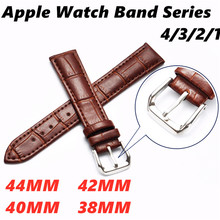 Genuine Leather Bracelet Watch band For Apple 4 44/40mm Sport Smart Strap Accessories Wristband Iwatch Series3/2/1 38/42mm