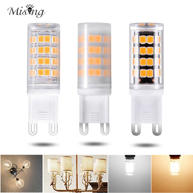 Mising 3W G9 2835SMD 52Leds Light Bulb Transparent/Milky/Black Type White/Warm White LED Lamp AC100-265V