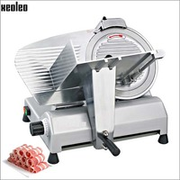 Xeoleo Commercial 12 Inch Semi Automatic Meat Slicer Machine Frozen Meat Slicer Aluminium Magnesium Alloy Material
