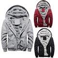 Homens Moda Inverno Casaco de Algodão Grosso Hoodies Casual Jacket Outwear
