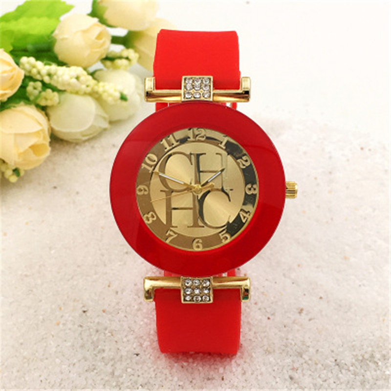 New CH watch ten color mix and match mens watch loose casual waterproof sunscreen sports watch girls watchKobiecy zegarek
