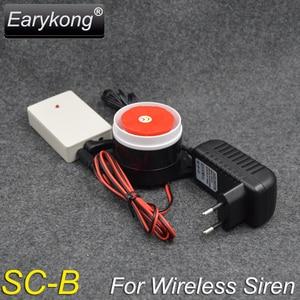 Image 2 - Беспроводная Стробоскопическая сирена для GSM системы сигнализации 433 МГц, также это система точечной сигнализации, можно добавить 100 беспроводных детекторов,