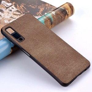 Image 4 - Case for Samsung Galaxy A5 A6 A7 A8 A9 A10 A30 A50 M30 M20 M10 Star 2017 2018 coque case Luxury Fabric Cloth Leather cover funda