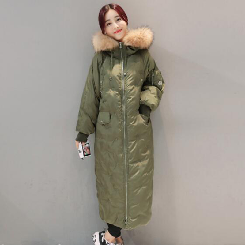 x-long winter new women snow warm coats parka high quality hooded big fur collar loose jackets plus size female outerwear QH0531 plus size winter jacket parka women long coat big hooded fur collar loose female clothes thick warm woman jackets ladies coats