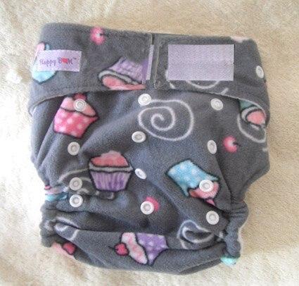 Моющиеся детские подгузники 10 шт. тканевые подгузники+ 10 шт. вставки подходят 4-17 кг - Цвет: cake