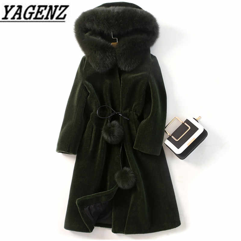 2019 New Autumn/Winter Women's Large fur collar Jacket Faux Fur Hooded Overcoat Large size Lady Fur jacket Warm Winter COAT 5XL
