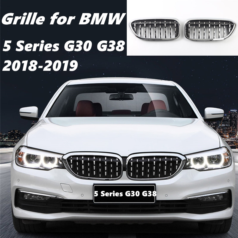 2019 Bmw 2 Series: A Pair Front Kidney Grille For BMW New 5 Series G30 G38