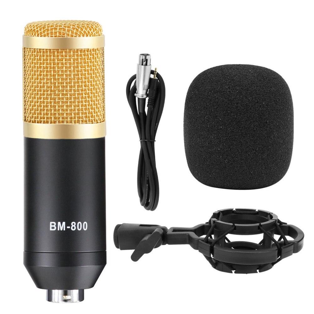 Bm 800 micro pour karaoké Kits Professionnel bm800 Studio microphone à condensateur Faisceau Mikrofon avec Filtre Alimentation Fantôme - 5