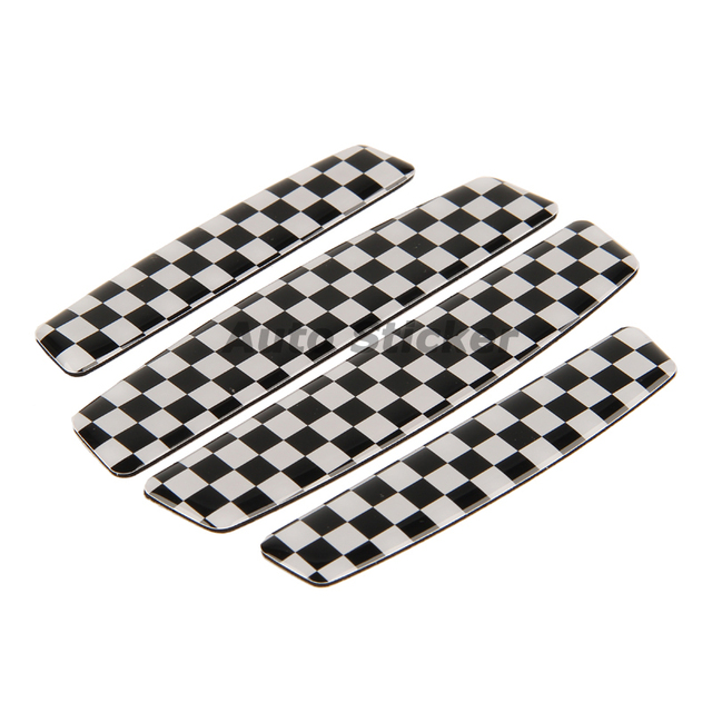 Checkered Flag Vw >> Car Styling F1 Checkered Flag Car Door Protective Sticker For Bmw