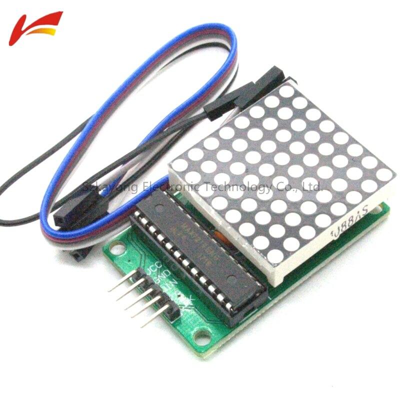 MAX7219 Dot Led Matrix Module MCU LED Display Control Module 5V Interface Module 8 x 8 Output Input Common Cathode