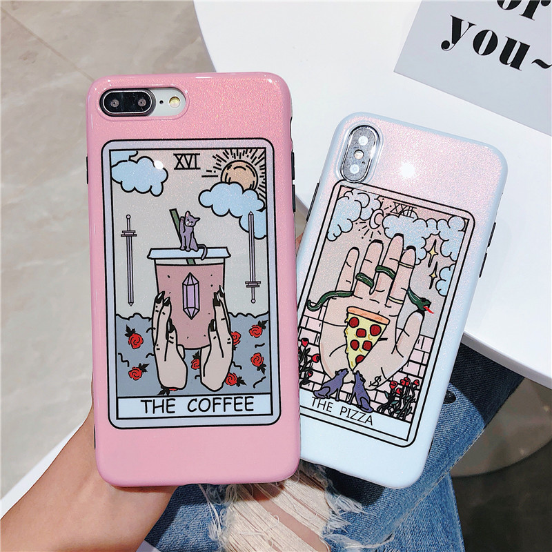 100PCS Colorful Art Graffiti Phone Case For iphone X XS XR Case For iphone 6 6S 7 8 Plus Luxury Glossy Cover Cartoon Cases Capa100PCS Colorful Art Graffiti Phone Case For iphone X XS XR Case For iphone 6 6S 7 8 Plus Luxury Glossy Cover Cartoon Cases Capa