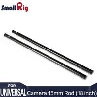 SmallRig czarny stop aluminium 15mm pręty 18 cali długi z M12 gwint żeński zawiera M12 Rod czapki (para pakiet) 1055 w Monopody od Elektronika użytkowa na