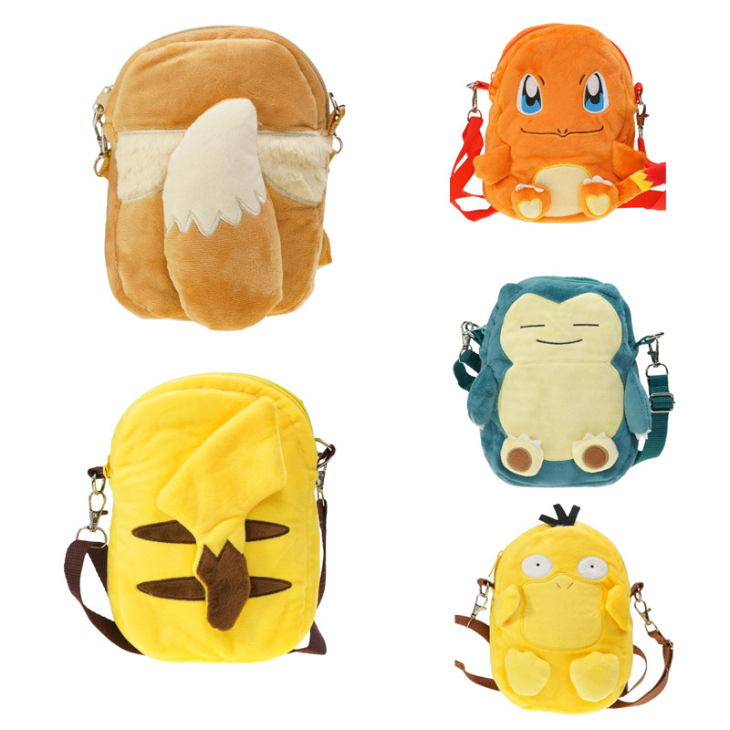 Soft Nap Pikachu Backpack Pokemon Baby Bag School Shoulder Bag Boy Girl Children Teenagers Pokemon Pocket Monster Bag