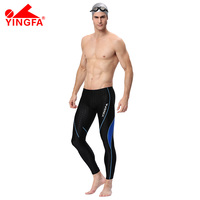 YINGFA 9117 Men professional shark skin swim trunks sunscreen Long swimming trunks fall winter swimwear wet suit diving pants