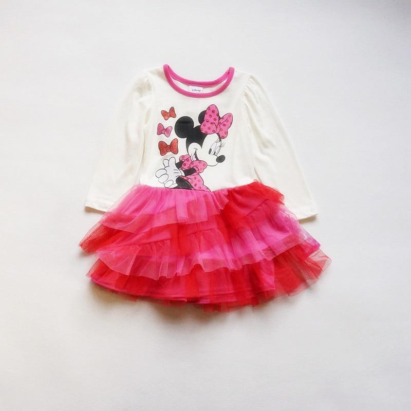 , 10pieces/lot The Latest 1-4 baby Girls Princess dress Minnie autumn long sleeve dress,minnie mouse dress