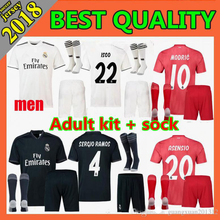 78e457c99 2019 Realed Madrided Soccer jersey Adult suit +socks 18 19 Home Away 3RD MARIANO  BALE BENZEMA Man suit sock Shirt Free shipping