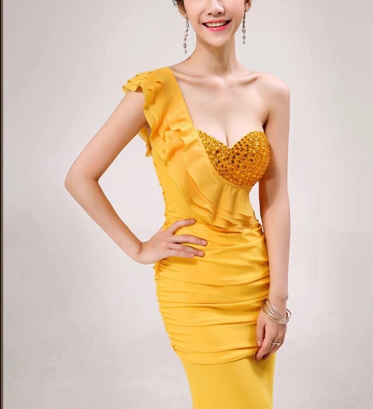 Распродажа, Хрустальные Вечерние платья на одно плечо, длинное вечернее платье, Abiti da Sera robe de vestido de festa longo com H0285