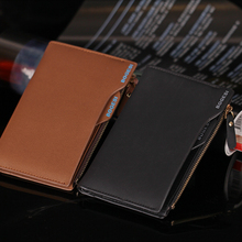 2018 Fashion Purse Wallets for Men with Checkbook Holder Small Money Purses New Design Dollar Slim Purse Money Clip Wallet