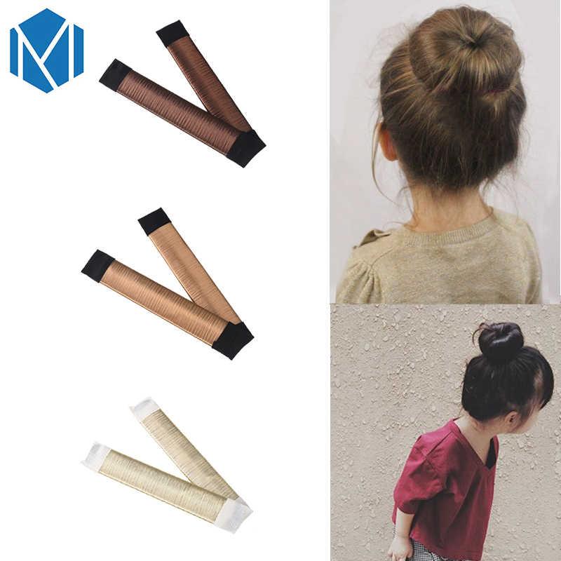 Мизм 1 шт. французский стиль твист волшебный DIY инструмент Детские аксессуары для волос для девочек булочка для волос Синтетический парик 15 см детская лента для волос