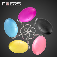 5 Pcs Personal Anti-Attack Protection Egg Shape Panic SOS Personal Keychain Anti-Defense Alarm System for Girl Child Elderly