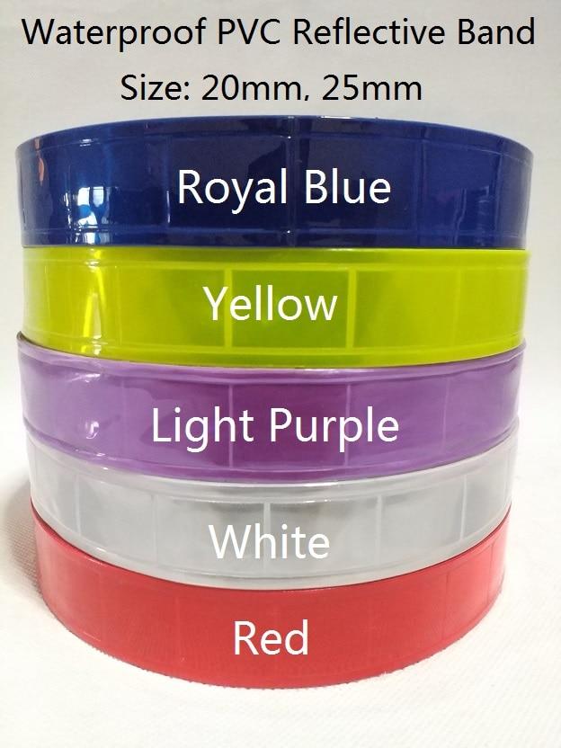 Классический 25 мм шириной 50 ярдов рулон водонепроницаемый ПВХ светоотражающие полосы лента для безопасности (Королевский синий, желтый, св...