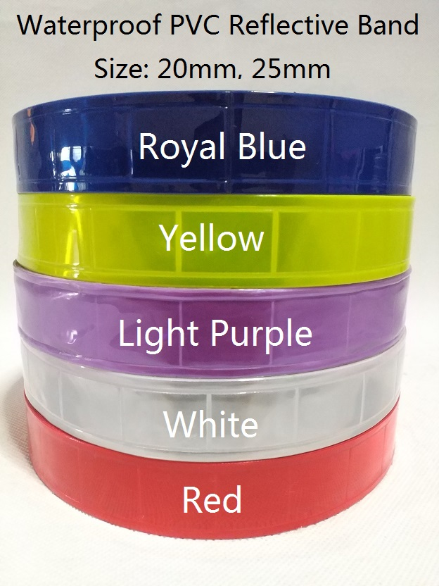 classic 25mm wide 50 yards a roll waterproof pvc reflective band tape for securi