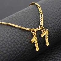 Années nombre colliers cadeau d'anniversaire personnalisé âge colliers femmes hommes maman père personnaliser numérique bijoux #211606