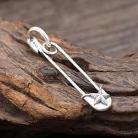 925 sterling silver brooch earrings cool Punk Rock mens gift X103