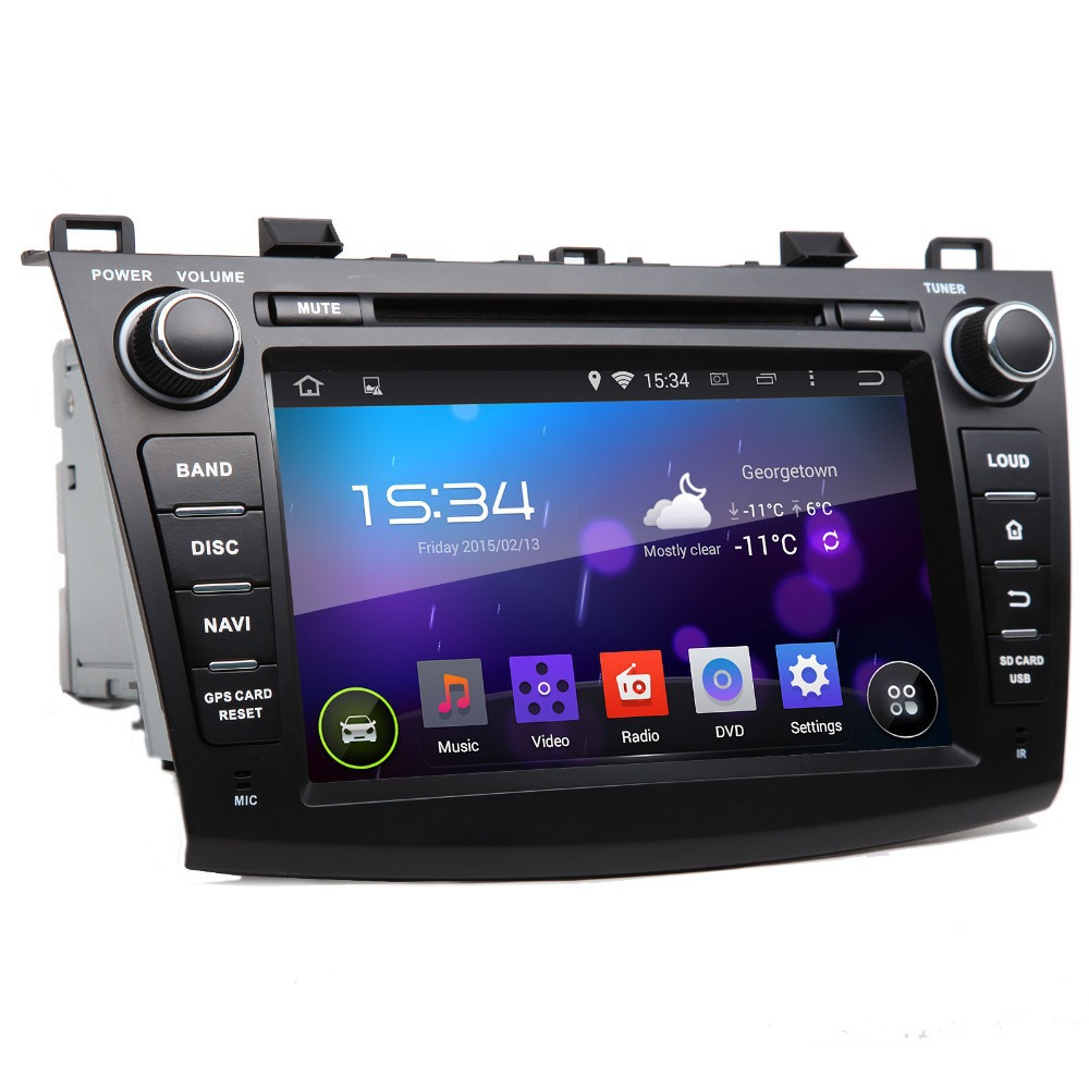 8Quad Core Android 4.4.4 kitkat Car Navitation DVD Player for Mazda 3 (2010-2013) Screen ...