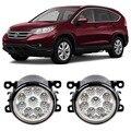 Car Styling DRL For Honda CRV CR-V CR V 2012 2013 2014 9-Pieces Leds Fog Lights H11 H8 12V 55W LED Fog Lamp