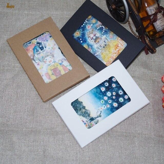 50 stücke Lxb: 155x102x5mm kraftpapier Postkarte Foto Boxen ...
