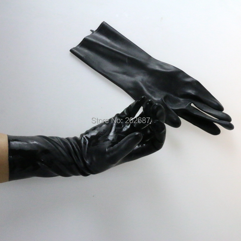 Buy 100% Latex Fetish Queen Role Play Toys Black  Arm Gloves Sex Games Bondages Wear Sex Toys