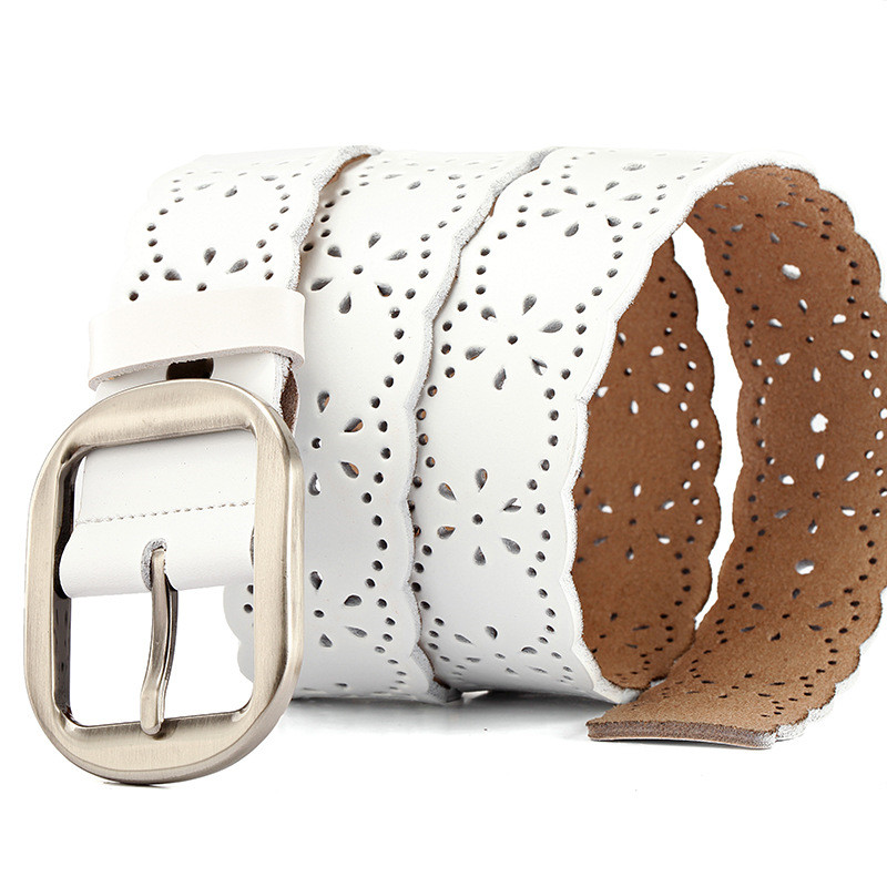 Belts Womens Belt Genuine Leather Ratchet Strap Elastic Woman Large Size Black Stretch Buckles For Dress Luxury Brand Ratchet
